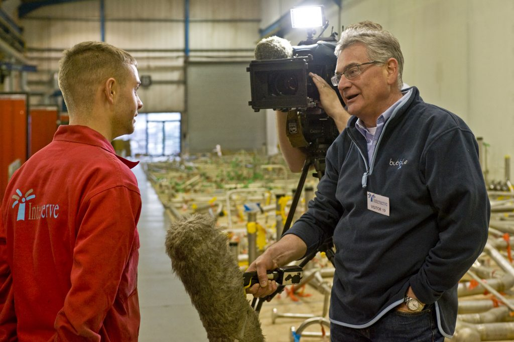Rob interviews Interserve's apprentice of the year